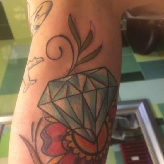 Diamante e fiore